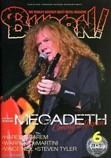 Burrn! Heavy Metal Magazine June 2017 Japan Megadeth Vince Neil Steven Tyler