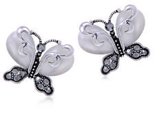 Ladies Chic Lovely Crystal Rhinestone Hollow Butterfly Ear Stud Earrings GiftJ/&C