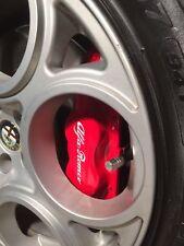 4 x Alfa Romeo Bremssattel Aufkleber weiss - Brake Sticker white Alfa