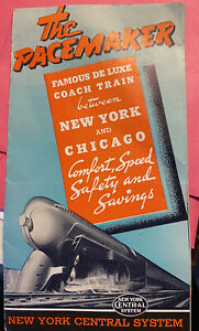 """New York Central """"The Pacemaker"""" small ad brochure Booklet - 6/19/1940"""