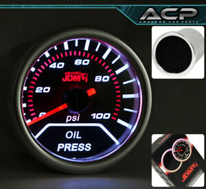 52MM Auto Car VIP Oil Pressure Gauge Dial Smoke For G35 G37 Q45 M35 TSX TL TSX