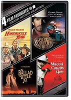 4in1 DVD Ballad of Little Jo/Macon County Line/Pure Country/Honeysuckle Rose New