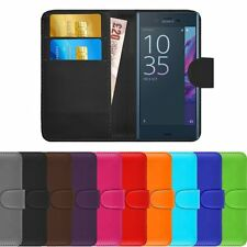 FOR ALL SONY XPERIA MODEL - Flip Magnetic Closure Wallet Leather Case Cover