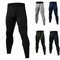Men's Compression Pants Cool Dry Baselayer Tight fit Leggings Basketball Cycling