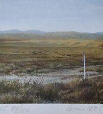 Louis L.G.N. Busman Landscape 1 HAND SIGNED NUMBERED 1985 SERIGRAPH Dutch ARTIST