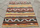 Custom Size Sofreh Kilim 4'9 x 5'9 ft. Vintage Anatolian Color Full Kilim Rug