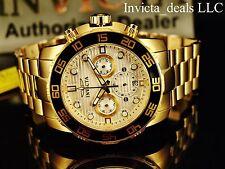 Invicta Men's 50mm Pro Diver Chronograph Silver Dial Gold Tone SS Watch