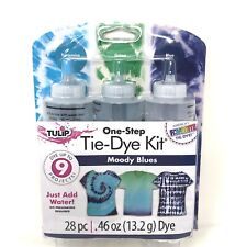Tulip One-Step Tie-Dye Kit Premium Dye and Supplies Moody Blues New SEALED