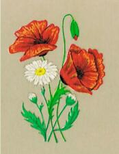 10 Poppy Poppies with ox-eye Daisies (Small) Craft Jewellery Transfer Decals