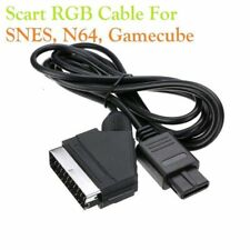 Real RGB For SNES NGC 1.8M Scart TV AV HD Lead AV PVC Lead Cable Game N64 1.8M