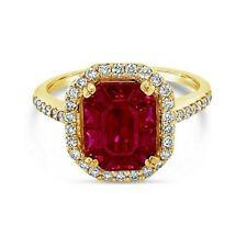 Гранд-образец распродажа ™ кольцо-страсть Рубин ™ ваниль бриллианты �� набор в 14K мед золото ™