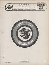 1974 ARCTIC CAT SNOWMOBILE PANTHER 340,440 P/N 0185-037 PARTS MANUAL (029)