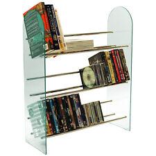 LUXOR - Media CD DVD Storage Shelves - Glass and Chrome MS5000LGN