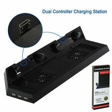 UK 2018 PS4 Cooling Stand Fan Dual Charging Dock USB HUB Ports For PlayStation 4