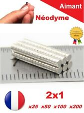Lot Aimants Puissant Neodyme NdFeB  2 X 1 mm  Photo, Miniature, Scrapbooking...
