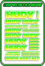 HUDY TOOLS SETUP STICKERS XRAY RC BUGGY CAR DECAL 1/10 1/8 JSPEC ELEC YEL GRE W
