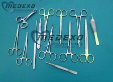 Feline Spay Pack 19 Pieces for Veterinary Surgical Instruments High Quality