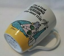 Maxine Hallmark Ceramic Coffee Mug Cup I'm A Real Morning Person Funny