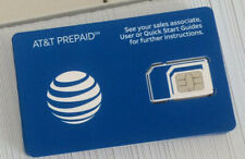 Samsung Galaxy S7 Sim Card For At&T Prepaid 4G Lte Dervice Activation New