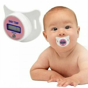 Digital Oral Thermometer Dummy Soother Baby Toddler Temperature Child Pink