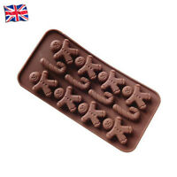 Gingerbread Man Shape Silicone Mould DIY Cake Biscuit Chocolate Jelly Baking