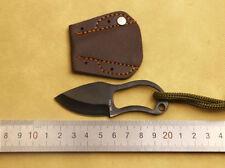 New Mini Pocket Finger Paw Self-Defence Survival Fishing Neck Knife& Sheath Ni