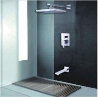 8' Rainfall Shower Head Mixer 2 Way Control Valve Bathtub Spout Faucet Tap Units