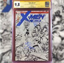 X-MEN BLUE #13 SKETCH VARIANT CGC 9.8 SS 3X ART ADAMS CULLEN BUNN  P STEIGERWALD