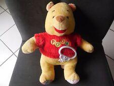 doudou peluche musical Winnie l'ourson Pooh jaune pull rouge rayé pois DISNEY 27