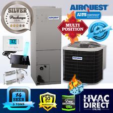 3 Ton 14 Seer AirQuest-Heil by Carrier Ac Heat Pump System Heat Kit+T-Stat+Uv
