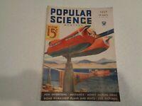 POPULAR SCIENCE MAGAZINE Vintage July 1934 Robot Jailers Cover Art Wittmack