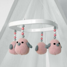 Baby Mobile - tweeto Vögel rosa - HANDMADE - für Babybett Stubenwagen Babywiege