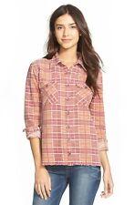 Billabong 'Waiting for Dawn' Flannel plaid shirt S/P- Red