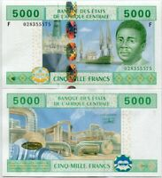 CENTRAL AFRICAN STATE GUINEA 5000 5,000 FRANCS 2002 P 509 F UNC