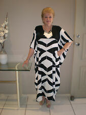 Long Kaftan Dress Classic Boho Small Size Stunning, Groovy, size 10-14 New