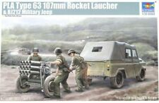 Trumpeter 1:35 PLA Type 63 107mm Rocket Launcher& BJ212 Military Jeep Kit #02320