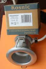 Kosnic Compact FIRE RATED GU10 240v Fixed Downlight in Silver (Metallic Chrome)