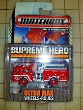 Matchbox Fire Engine Supreme Hero On A Mission Ultra Max