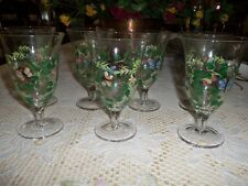 HAND PAINTED LENOX  STEMMED  GLASSES LOT OF FIVE (5) BEAUTIFUL