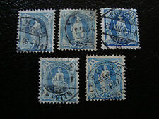 SUISSE - timbre - yvert et tellier n° 73 x5 obl (A8) stamp switzerland