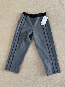 Women's Lululemon Light Strides Crop Lounge Jogger Pants - Grey Black 6 Uk10