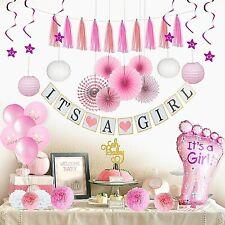 Complete Premium 41 Pcs Baby Shower Decorationsfor Girls Pink Baby Shower Décor