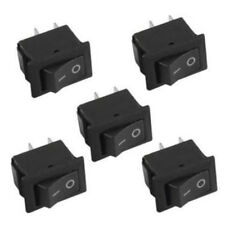 10Pcs Pro SPST ON/OFF Switch Mini Black 2 Pin Rocker Switch DC 12V 16A Tool Pack