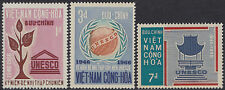 VIETNAM du SUD N°301/303** UNESCO, 1966 South Viet Nam Sc #298-300 MNH