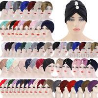 Indian Women Hair Loss Scarf Cancer Chemo Cap Muslim Turban Hat Hijab Head Wrap