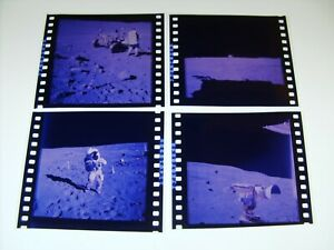 NASA APOLLO MISSION 1st GENERATION FROM MASTER 70mm NEGATIVE LOT OF 4
