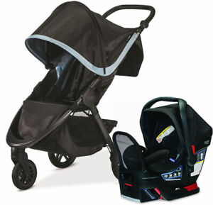 Britax B-Free Stroller & Endeavours Car Seat Travel System Frost New!!