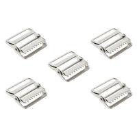 5er Pack Klemm-Leiterschnallen, Versteller Stopper Gurtband Schnalle für