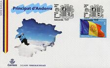 Spanish Andorra 2019 FDC Definitives Flag of Andorra 1v Set Cover Flags Stamps