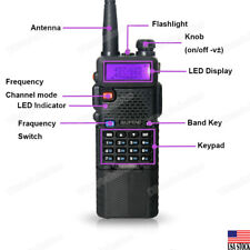 BAOFENG UV-5R 3800mah HIGH Battery Dual Band Two-way Walkie-Talkie U/VHF Radio